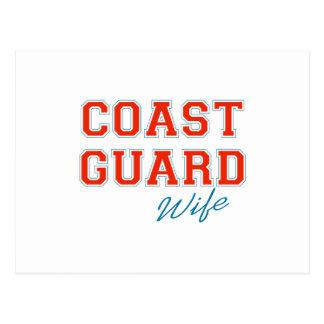 COAST GUARD WIFE POSTCARD