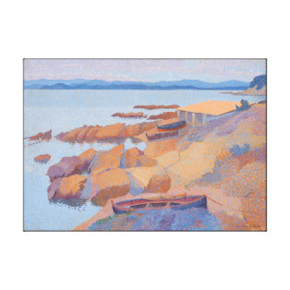 """Coast near Antibes"" by Henri Edmond Cross Canvas Print"