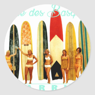 Coast of the Biarritz Basques Classic Round Sticker