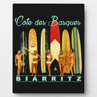 Coast of the Biarritz Basques Display Plaque