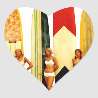 Coast of the Biarritz Basques Heart Sticker