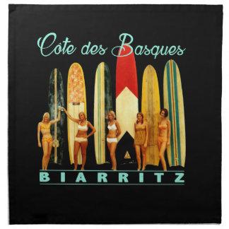 Coast of the Biarritz Basques Napkin