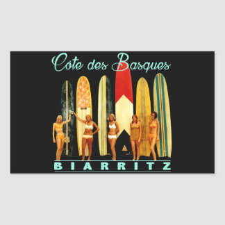 Coast of the Biarritz Basques Rectangular Sticker