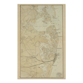 Coast section Tuckerton to Absecon Beach Chart Map