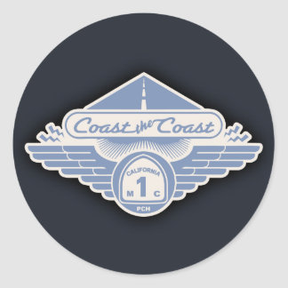Coast the Coast Round Sticker