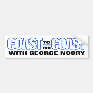 Coast To Coast AM Bumber Sticker (White w/ Blue) Bumper Sticker