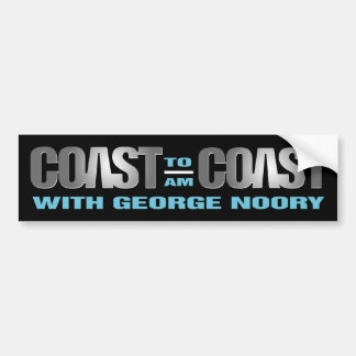 Coast To Coast AM Bumper Sticker