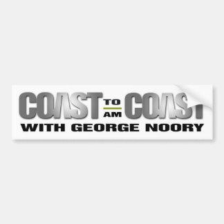 Coast To Coast AM Bumper Sticker (White)