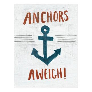 Coastal Art | Anchors Away Postcard