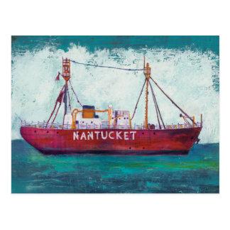 Coastal Art | Nantucket Lightship Postcard