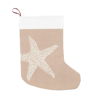 Coastal Beach Starfish Christmas Holiday Small Christmas Stocking