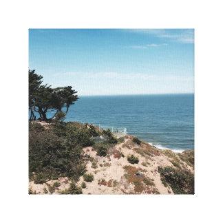 Coastal Beach Stretched Canvas Prints