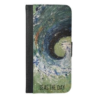 Coastal Beach Wave Abstract Art iPhone 6/6s Plus Wallet Case