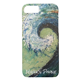 Coastal Beach Wave Abstract Art iPhone 8/7 Case