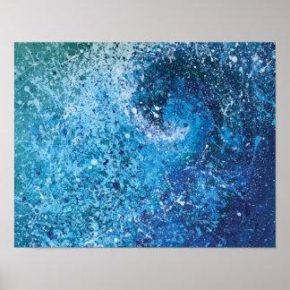 Coastal Beach Wave Fine Art Painting Poster