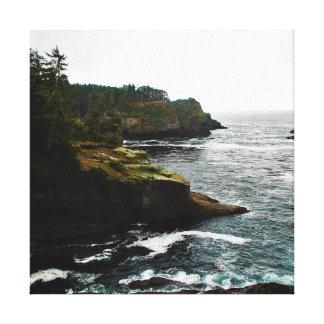 Coastal Clifs Canvas Print