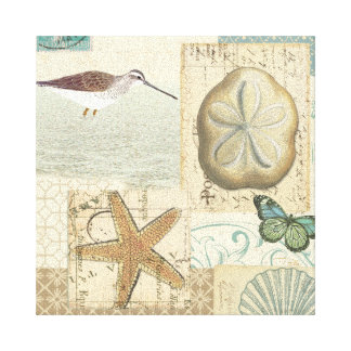 Coastal Collage Canvas Prints