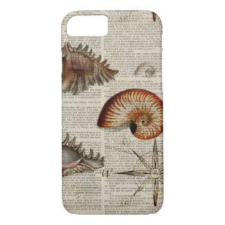 coastal conch vintage seashell botanical print iPhone 8/7 case