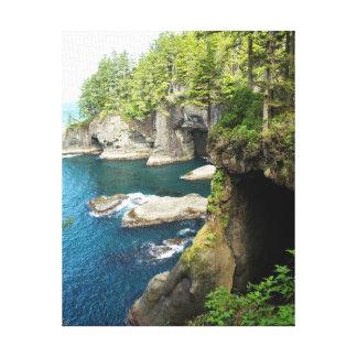 Coastal Cove Stretched Canvas Print