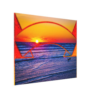 Coastal Daytona Beach Shores Architecture & Landsc Gallery Wrapped Canvas