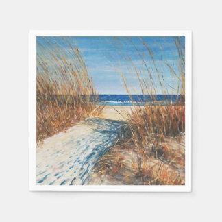 Coastal Decor Sand Dunes Beach Art | Napkins Disposable Serviette