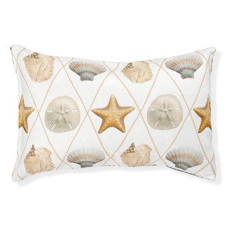 Coastal Decor Seashell Pattern Pet Bed
