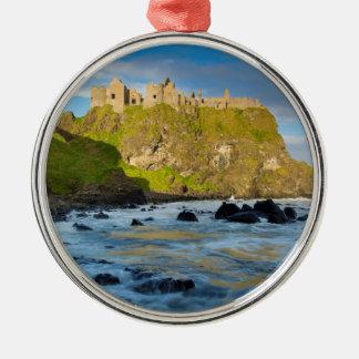 Coastal Dunluce castle, Ireland Metal Ornament