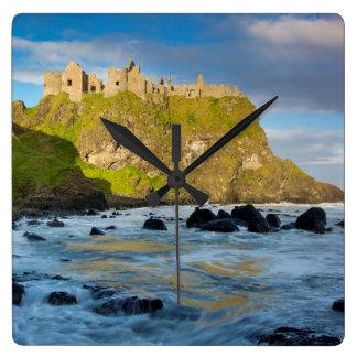Coastal Dunluce castle, Ireland Wallclock