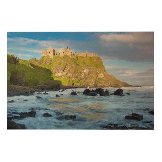 Coastal Dunluce castle, Ireland Wood Print