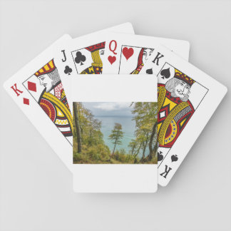 Coastal forest on the Baltic Sea coast Playing Cards