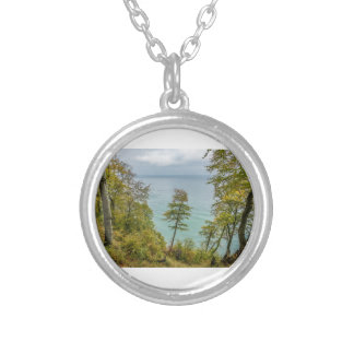 Coastal forest on the Baltic Sea coast Silver Plated Necklace