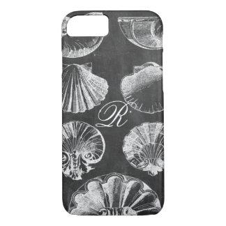 coastal french botanical art chalkboard seashells iPhone 8/7 case