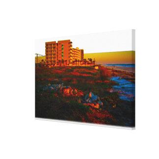 Coastal Landscape and Beach Resort Art Gallery Wrap Canvas