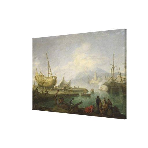 Coastal Landscape Gallery Wrap Canvas