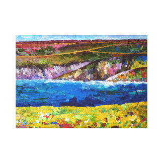 Coastal landscape of Brittany Stretched Canvas Prints