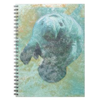 Coastal Living Beautiful Manatee   Notebook
