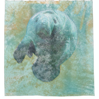 Coastal Living Beautiful Manatee | Shower Curtain