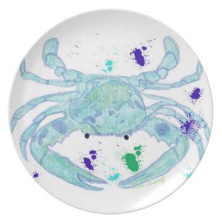 Coastal look crab plate
