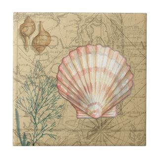 Coastal Map Collage Tile