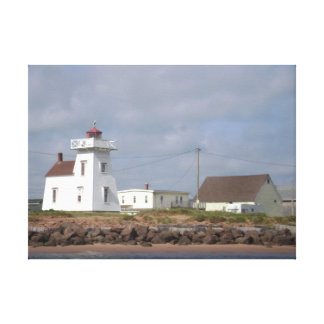 Coastal Maritime Lighthouse Wrapped Canvas Photo Stretched Canvas Print