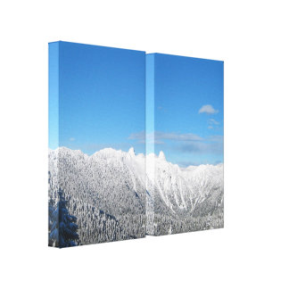 Coastal Mountains Wrapped Canvas Canvas Prints
