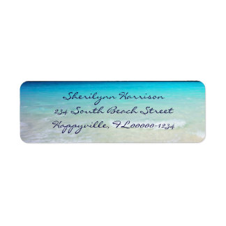 Coastal Ocean Living Script Return Address Return Address Label