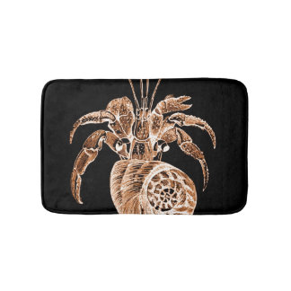 Coastal ocean sea beach black bath mats