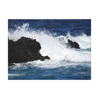 Coastal Ocean Wave Premium Canvas (Gloss) Stretched Canvas Prints