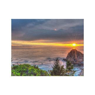 Coastal Oregon Sunset Gallery Wrap Canvas