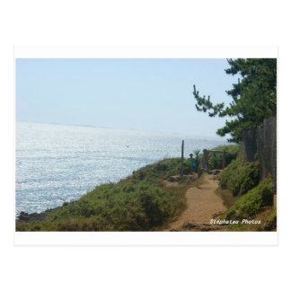 Coastal path Nevez BRITTANY Postcard