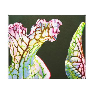 Coastal Picher Plant, 1 of 4 panels to hang. Canvas Print