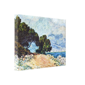 Coastal Road in Menton by Claude Monet Stretched Canvas Prints