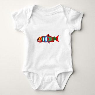 Coastal Salmon Baby Bodysuit