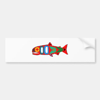 Coastal Salmon Bumper Sticker